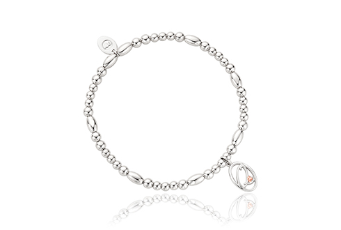 Tree of Life Initials Affinity Bead Bracelet 17-18cm - Letter Q