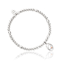 Tree of Life Initials Affinity Bead Bracelet 16-16.5cm - Letter Q