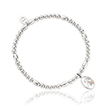 Tree of Life Initials Affinity Bead Bracelet 16-16.5cm - Letter R