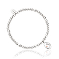 Tree of Life Initials Affinity Bead Bracelet 16-16.5cm - Letter S