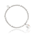 Tree of Life Initials Affinity Bead Bracelet 16-16.5cm - Letter W