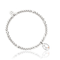 Tree of Life Initials Affinity Bead Bracelet 16-16.5cm - Letter X
