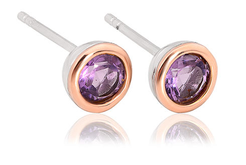 Amethyst February Birthstone Earrings *SALE*