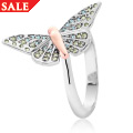 Butterfly Pave Ring