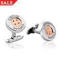 Clogau Signature Button Cufflinks