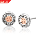 Clogau Signature Button Stud Earrings
