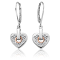 Cariad Sparkle Heart Earrings