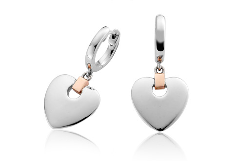 Cariad Heart Drop Earrings