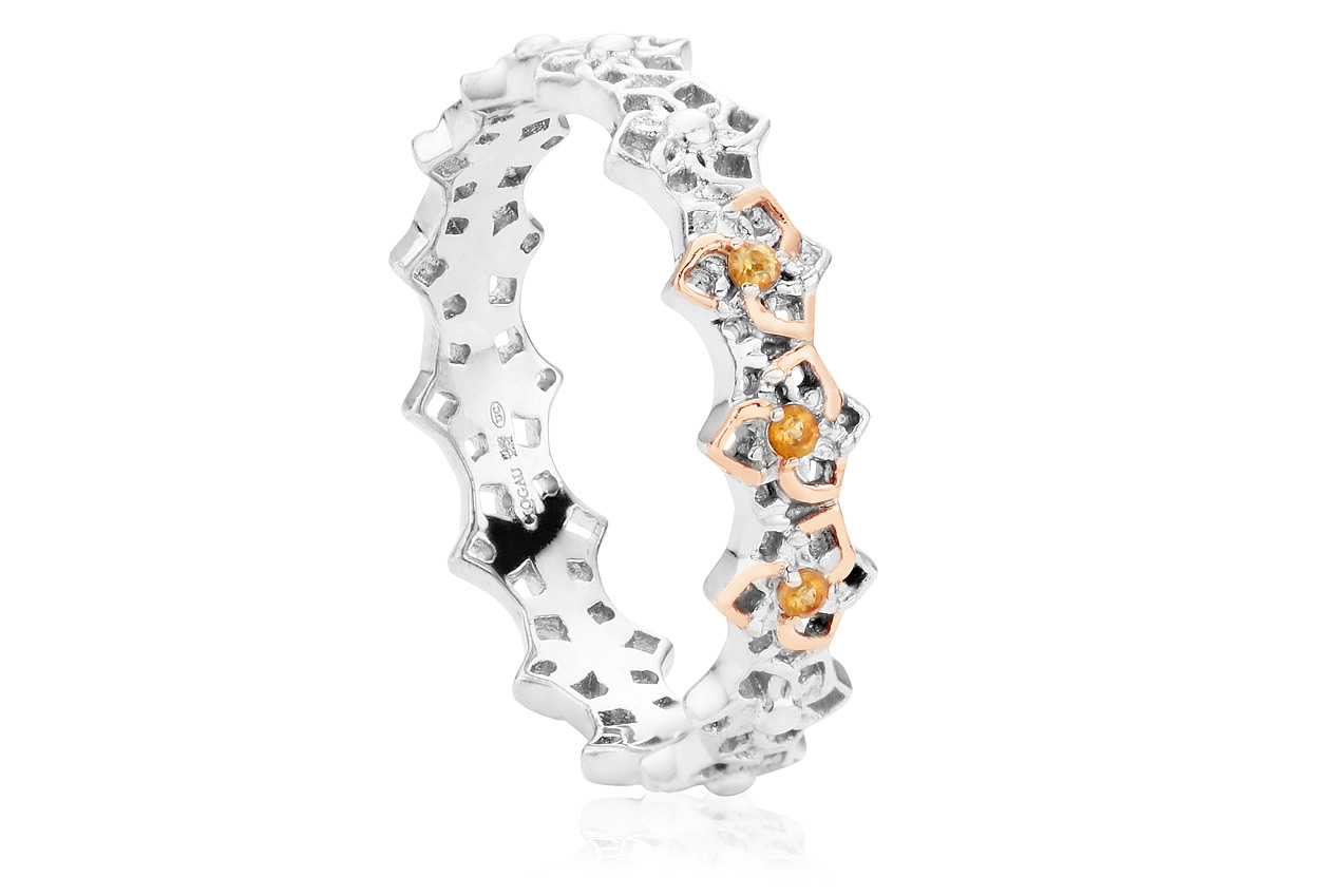 Eternal Daffodil Stacking Ring