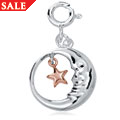 Star and Moon Childhood Charm