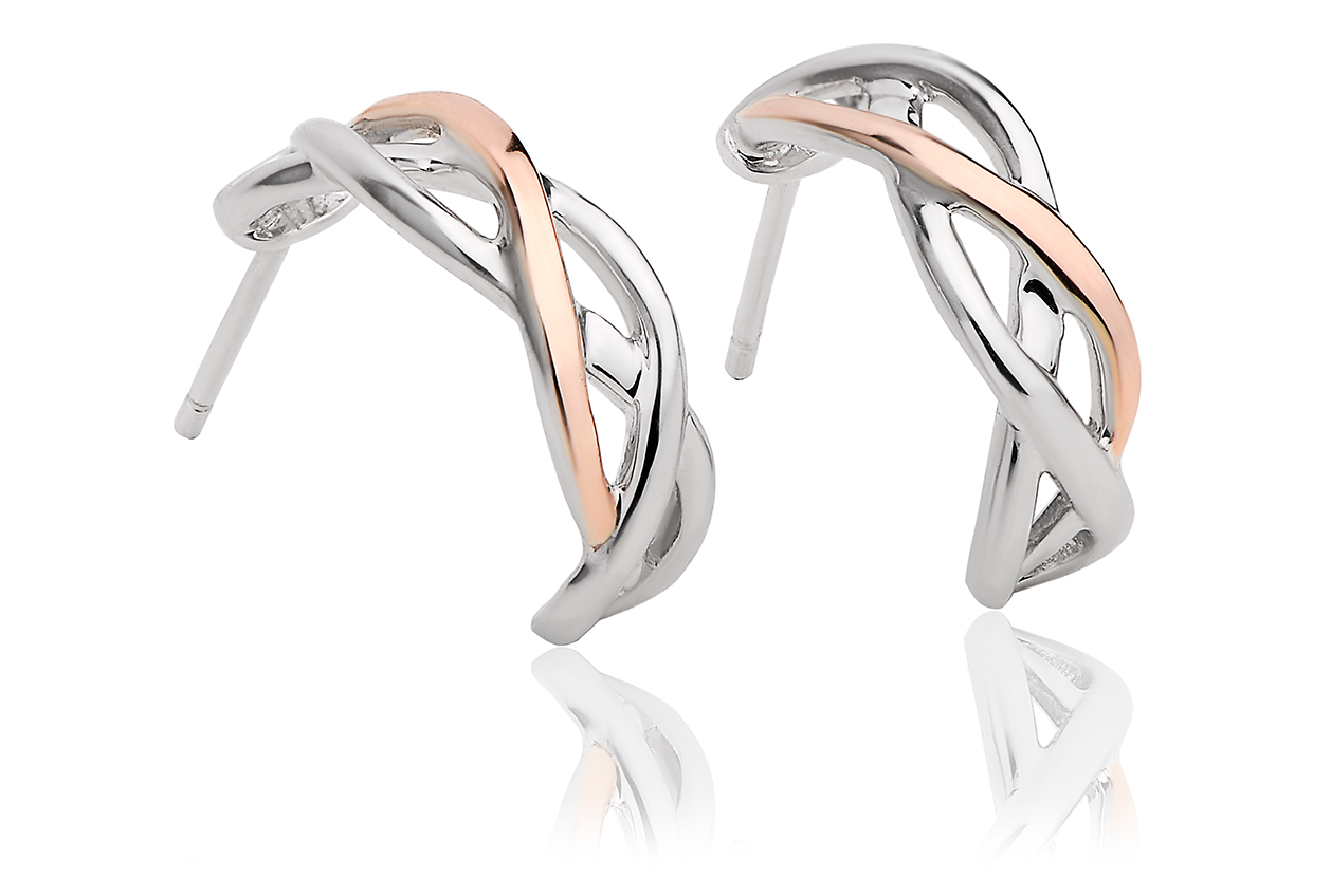 Eternal Love Weave Hoop Earrings