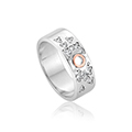 Cariad Sparkle Wide Band Ring