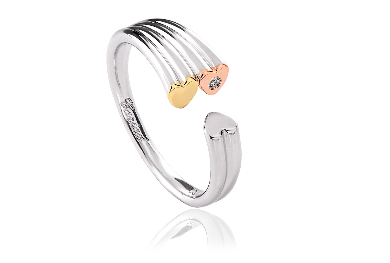 Cariad Triple Heart Ring
