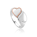 Cwtch double heart ring