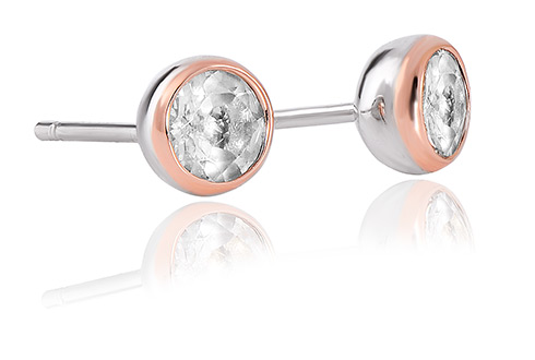 Clogau Celebration White Topaz Stud Earrings