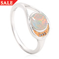 Serenade White Opal Ring