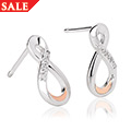 Eternity Diamond Drop Earrings