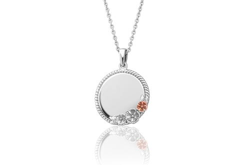Blossom Engraveable Circle Pendant