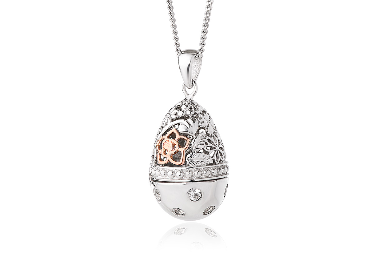 Floral Egg Locket Small