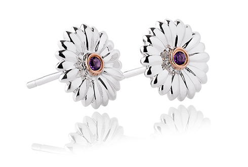 Flower Amethyst Stud Earrings *SALE*
