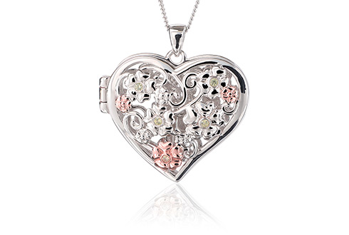 Fairy Floral Peridot Heart Locket *SALE*