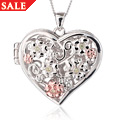 Fairy Floral Peridot Heart Locket