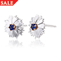 Corn Flower Blue Sapphire Earrings