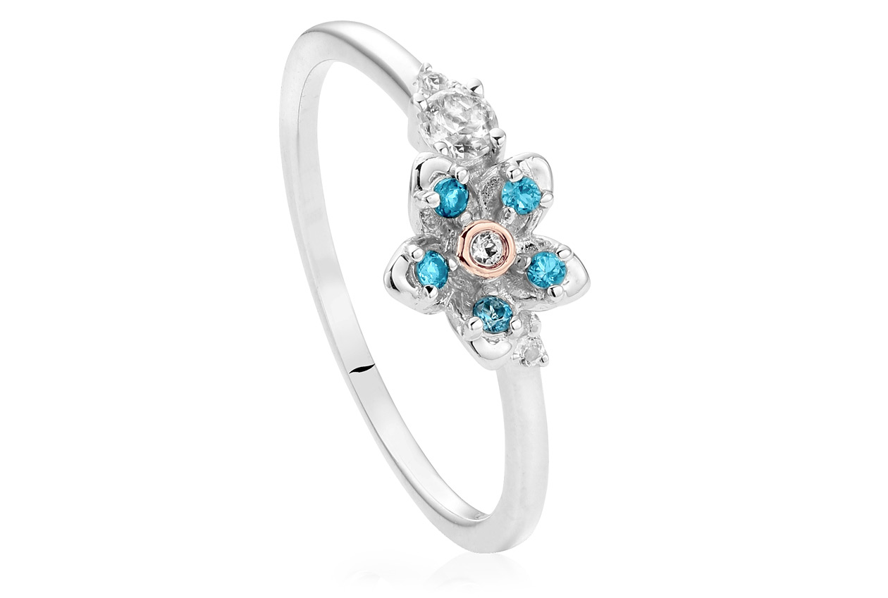 Forget Me Not Affinity Stacking Ring