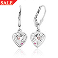 Love Maze Heart Drop Earrings