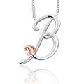 Tree of Life Initials Necklace - Letter B
