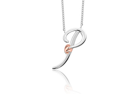 Tree of Life Initials Necklace - Letter P