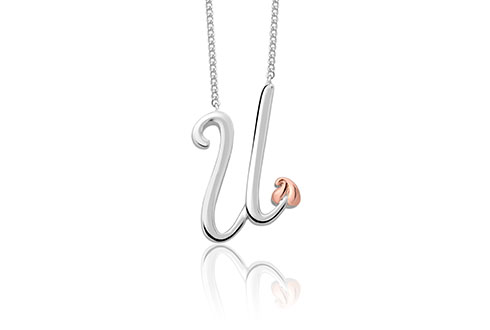 Tree of Life Initials Necklace - Letter U