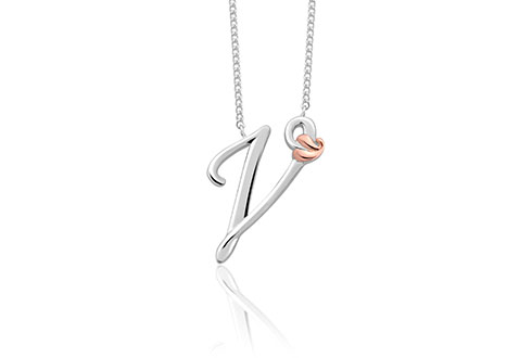 Tree of Life Initials Necklace - Letter V