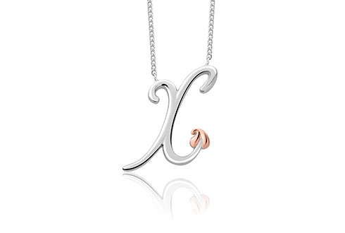 Tree of Life Initials Necklace - Letter X
