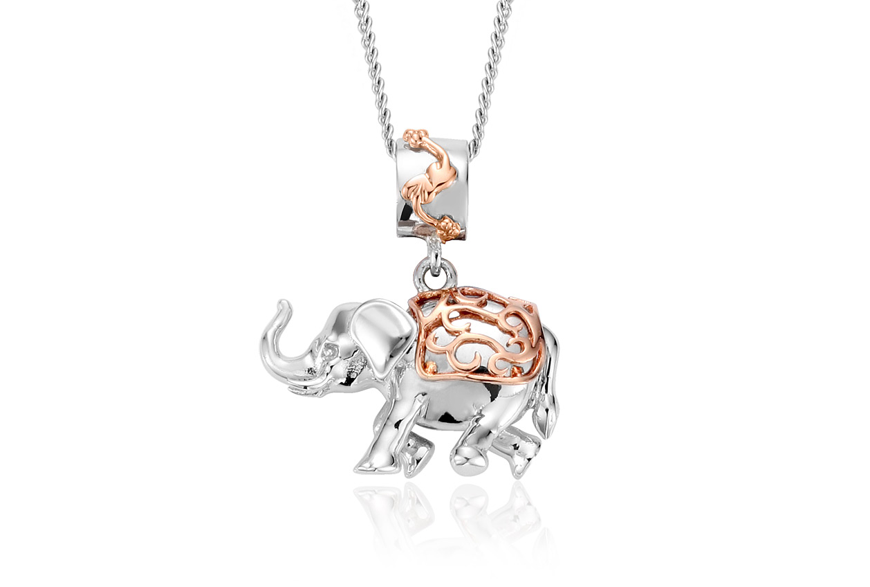 black chain diamond elephant with pendant silver products sterling d