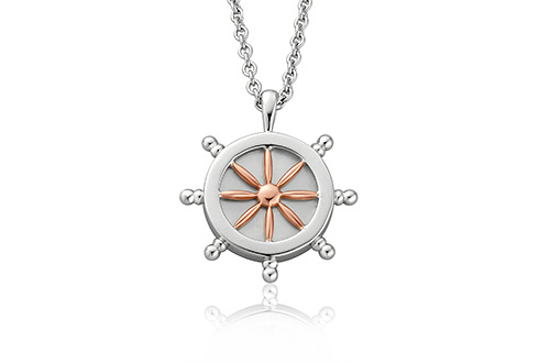 Ships Wheel Journey Pendant