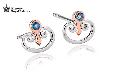 Kensington Palace London Blue Topaz Stud Earrings