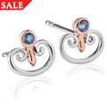 Kensington Palace London Blue Topaz Stud Earrings *SALE*