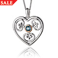 Kensington Blue Topaz Heart Pendant *SALE*