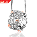 Silver & 9ct Rose Gold Kensington Pendant *SALE*