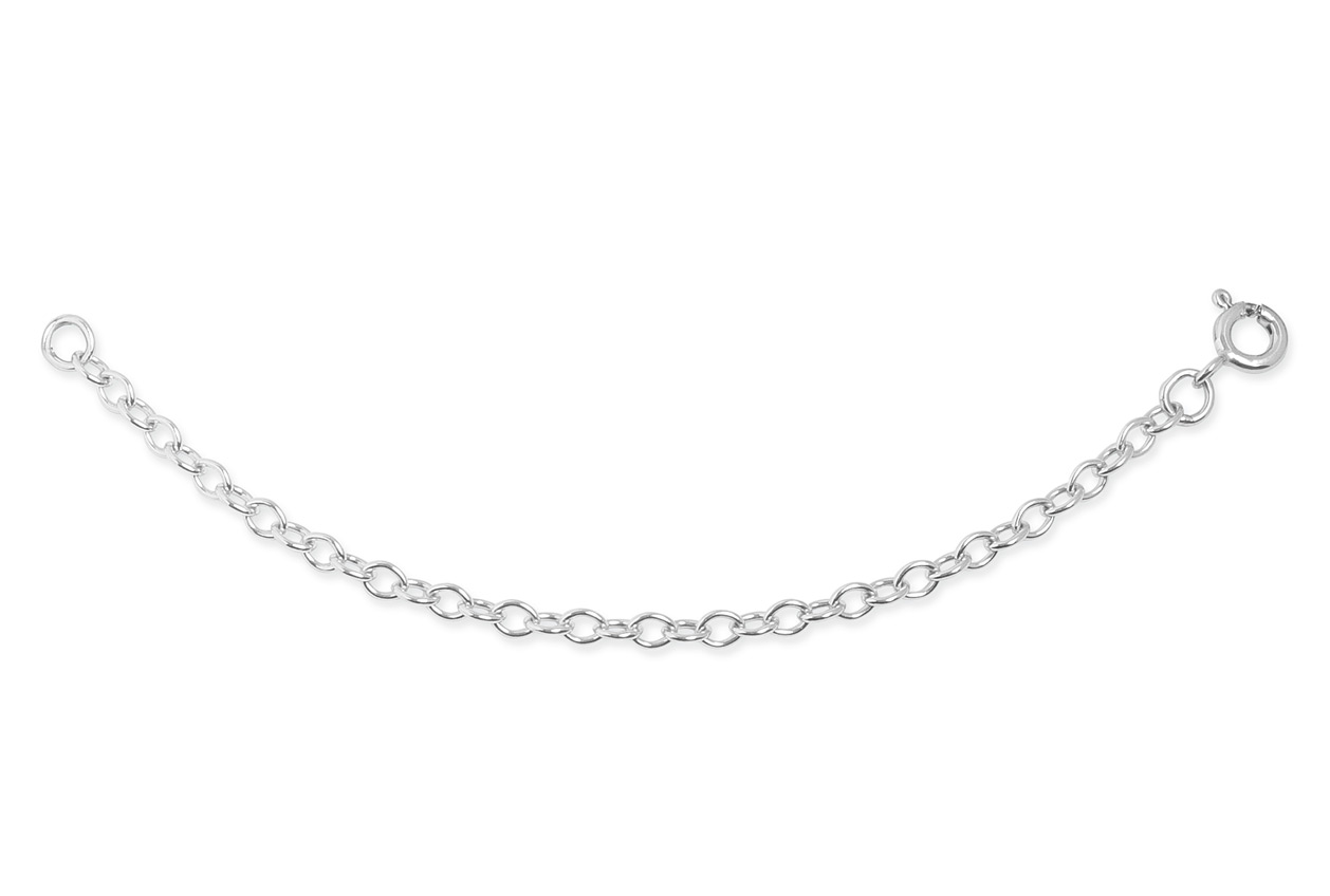 Silver 4 Inch Extension Chain