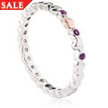 Affinity Pink Sapphire Heart Stacking Ring *SALE*