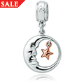 Man in the Moon Bead Charm