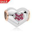 Ruby Heart Bead Charm *SALE*