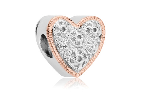 Cannetille Heart Bead Charm