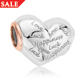 Love Luck and Happiness Bead Charm
