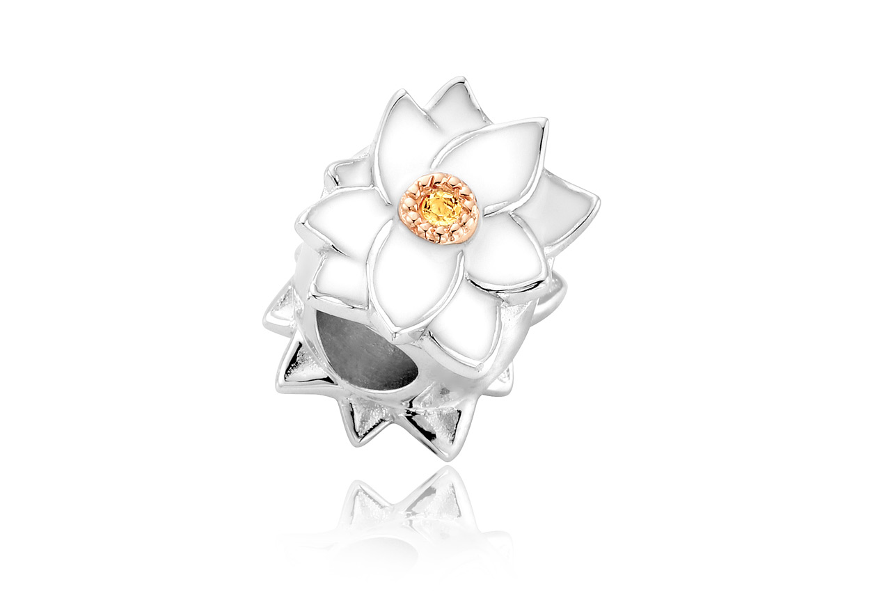 Christmas Rose Milestones Bead Charm *SALE*