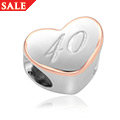 40th Celebration Milestones Bead Charm *SALE*