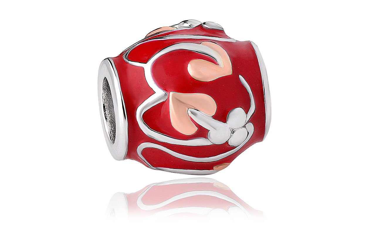 Tree of Life Red Enamel Milestones Bead Charm