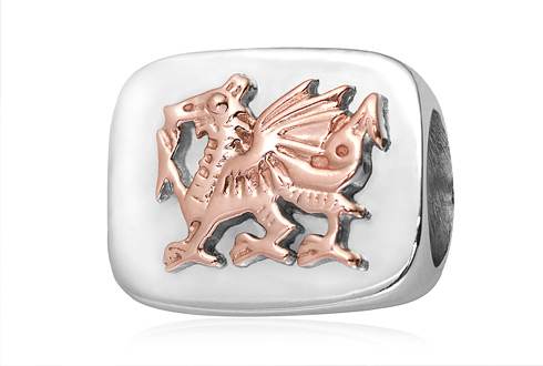 Welsh Dragon Bead Charm